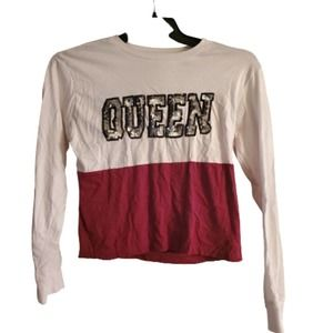 On Fire Long Sleeve Sequin Queen Shirt Size Large